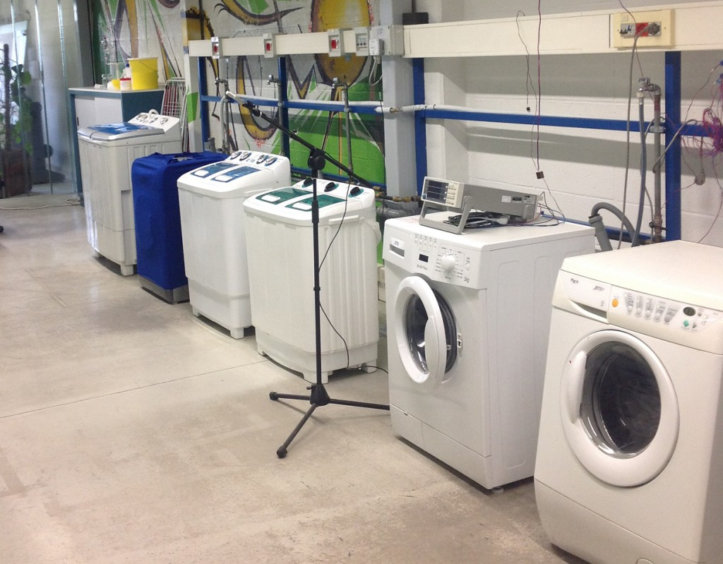 A part of AE – Appliances Engineering laboratories for the measuring of the washing machine performances.