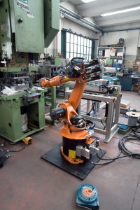 The new robot in test phase.